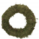 Wreath moss slim, D25, green-nature